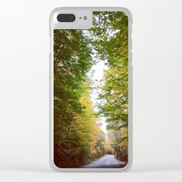 Autumn Country Road Clear iPhone Case