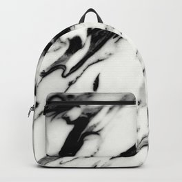Classic White Marble Glam #1 #marble #decor #art #society6 Backpack