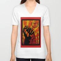 propaganda V-neck T-shirts featuring Propaganda I by blurdvizionz
