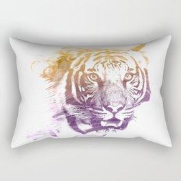 TIGER SUPERIMPOSED WATERCOLOR Rectangular Pillow