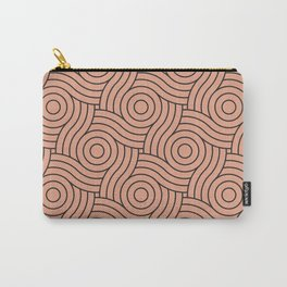 Circle Swirl Pattern Pastel Pink, Inspired By Pratt and Lambert Earthen Trail 4-26 Carry-All Pouch