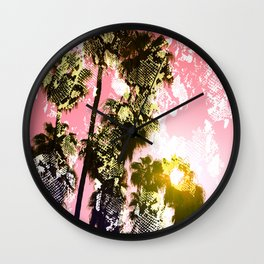 Snake sunset in paradise Wall Clock