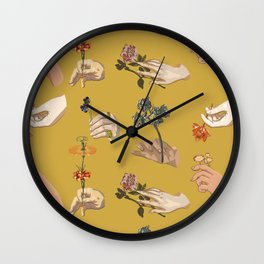 Hands in Art History Wall Clock