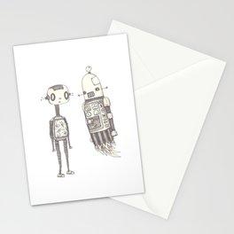 Monotonous pleasantries exchanged between acquaintances Stationery Cards