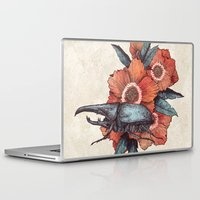 hercules Laptop & iPad Skins featuring Hercules Beetle by Angela Rizza