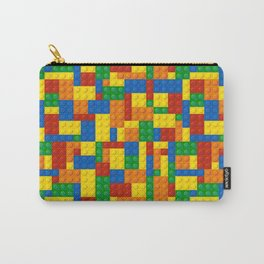 Colored Building Blocks Carry-All Pouch