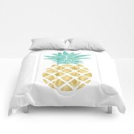 Gold Pineapple Comforters
