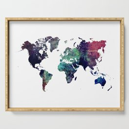 Map of the World After Ice Age Serving Tray