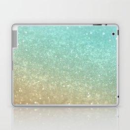 Sparkling Gold Aqua Teal Glitter Glam #1 #shiny #decor #society6 Laptop & iPad Skin
