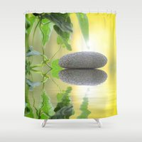 stone Shower Curtains featuring Stone by pf_photography