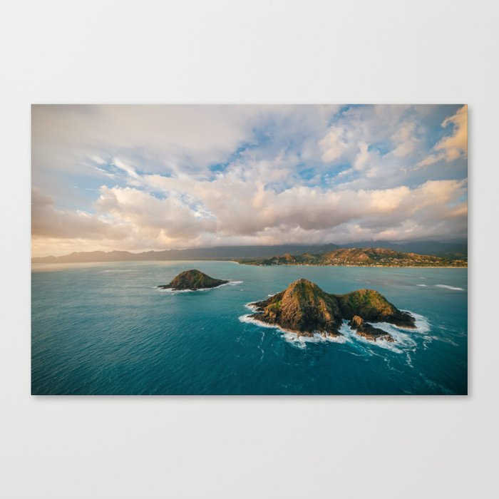 the mokes and lanikai beach canvas print by andystenz society6