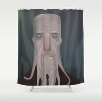 cthulhu Shower Curtains featuring cthulhu by Crooked Octopus