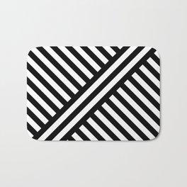 two way stripey diagonal Bath Mat
