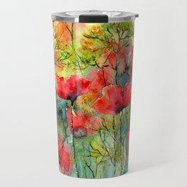 The Poppies Grow Travel Mug