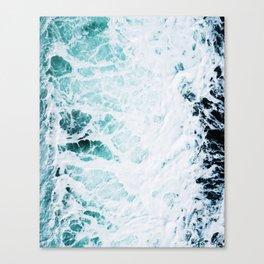 Water, Sea, Ocean, Wave, Blue, Nature, Modern art, Art, Minimal, Wall art Art Print Canvas Print