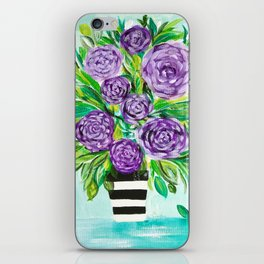 Purple Bouquet Delights iPhone Skin