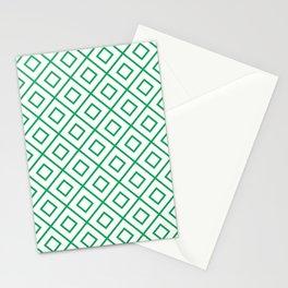Green Diamond Pattern 2 Stationery Cards