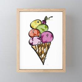 Yum Ice Cream! Framed Mini Art Print