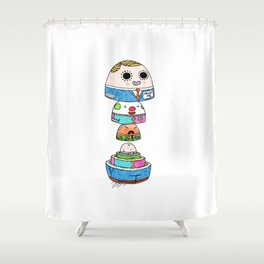 Crude Play Shower Curtain