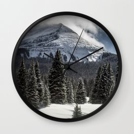 Mountain So High it Touches the Sky Wall Clock