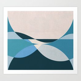 Sinuous Curves 3 Art Print