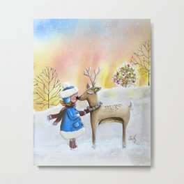 my friend rudolph Metal Print