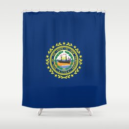 New Hampshire State Flag Shower Curtain