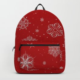 Silver snowflakes Backpack