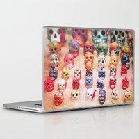 sugar skulls Laptop & iPad Skins featuring Sugar Skulls by Jenndalyn