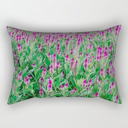 Celosia Flower Field Rectangular Pillow