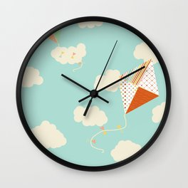 Let's go Fly a Kite Wall Clock