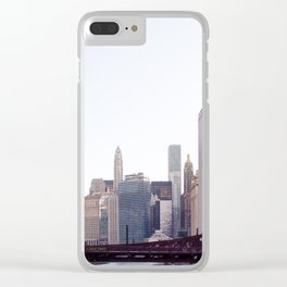 Chicago River Skyline Clear iPhone Case