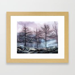 Snow painting 2 Framed Art Print