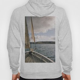 Sailing across Cornish seas Hoody