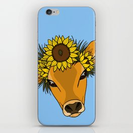 Flower Cow iPhone Skin