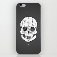 calavera iPhone & iPod Skins featuring calavera by gaelle nasr