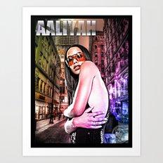 Street Phenomenon Aaliyah Art Print
