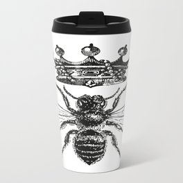 Queen Bee | Black and White Metal Travel Mug
