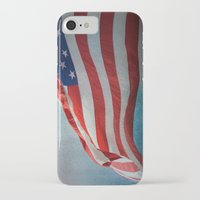 american flag iPhone & iPod Cases featuring American Flag by Jai Johnson