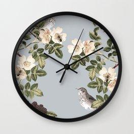 Birds and the Bees Gray Wall Clock