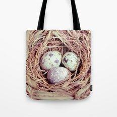 Birds Nest Eggs Tote Bag