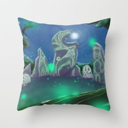 Forest Council Throw Pillow