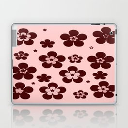 Pink with brown flowers Laptop & iPad Skin