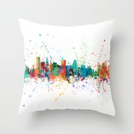Baltimore Maryland Skyline Throw Pillow