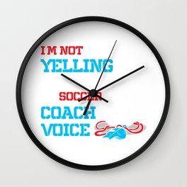 Soccer Coach Soccer Ball Soccer Player  Wall Clock