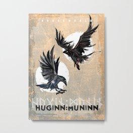 Huginn and Muninn Metal Print