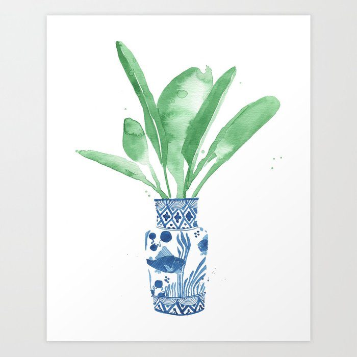 Ginger Jar + Bird of Paradise Art Print