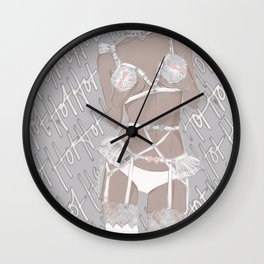 White Hot  Wall Clock