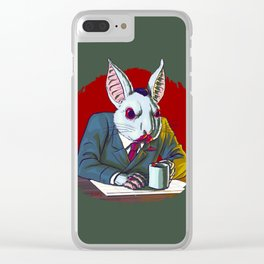 Count Fluffington, Certified Public Accountant, At Your Service Clear iPhone Case