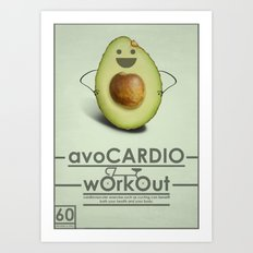 avoCARDIO workout Art Print